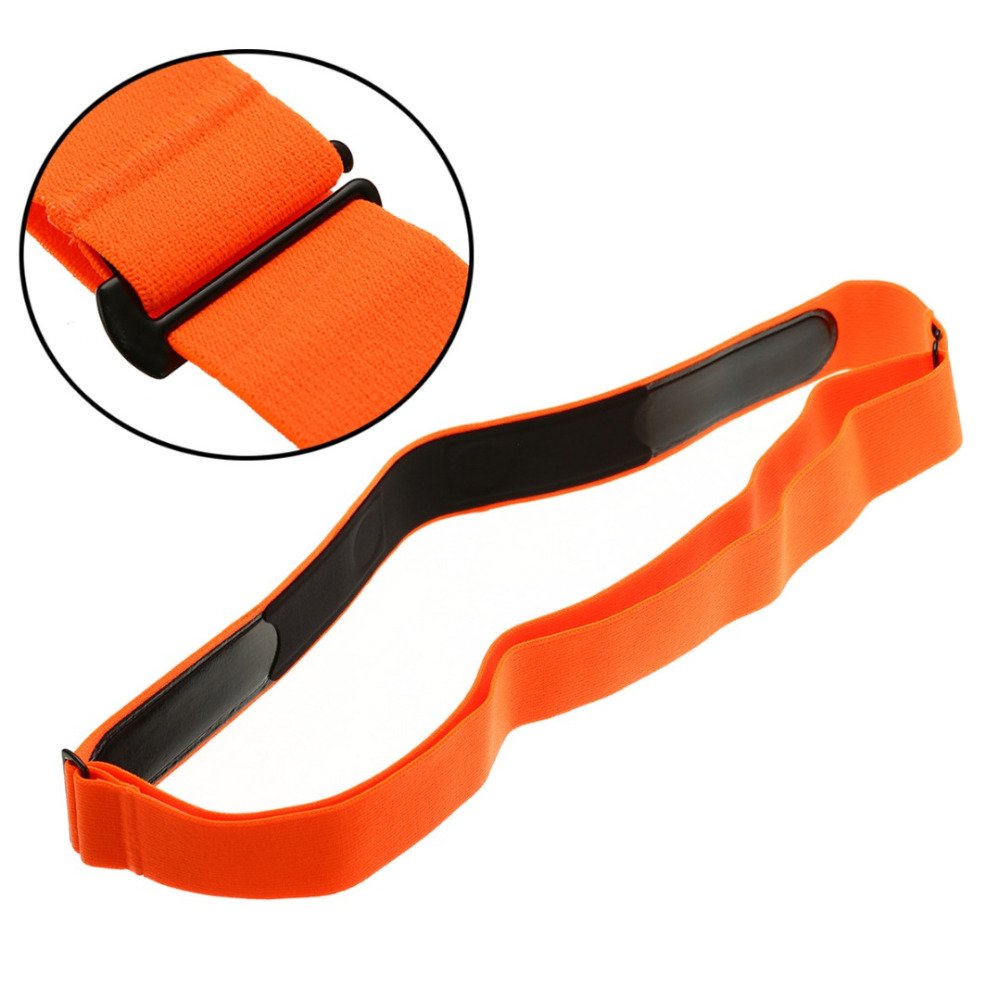High Quality Orange Elastic Chest Belt Strap Band For Wahoo Garmin Polar Sport Running Heart Rate Monitor