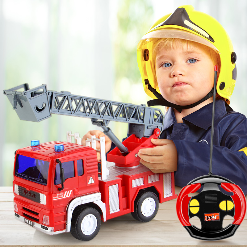 1:20 2.4G Remote Control Car RC Rescue Fire Engine Truck toys & engine truck toys for kids boys Christmas & birthday gift