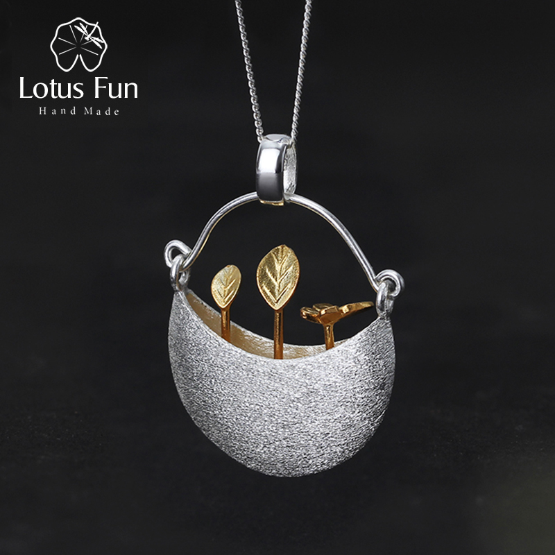 Lotus Fun Real 925 Sterling Silver My Little Garden Design Pendant without Necklace Handmade Fine Jewelry for Women Acessorios футболка классическая printio знаки зодиака дева