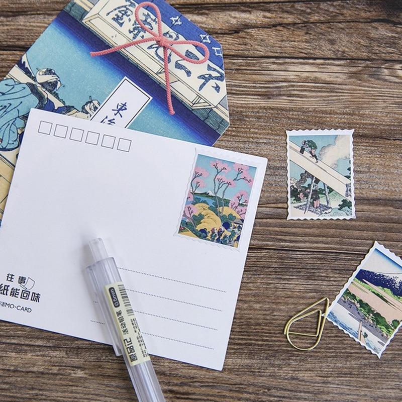 Купить с кэшбэком 46 pcs/box Japanese used paper sticker decoration DIY diary scrapbooking gift card sticker children's favorite stationery