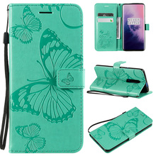 3D Butterfly PU Leather Flip Wallet Case For Oneplus 7 Pro Cases Funda 6  6T Book Bag Cover Coque<