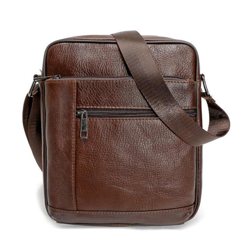 High quality men messenger bags fashion genuine leather bag Laptop Briefcase man crossbody bags casual business shoulder