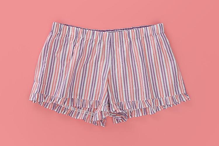 Cheap Woman Sleeping Shorts Sleep Pants Ladies Home Pants Striped Womens Pajama Pants Sleep Bottoms Large Size Pyjama Pant