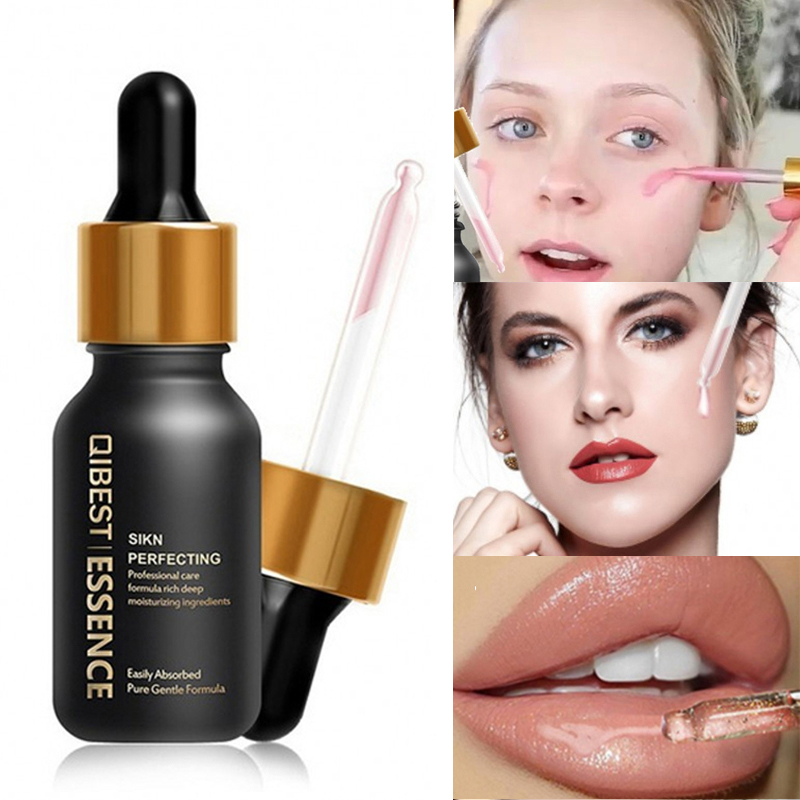 Face Primer Brighten Moisturizer Hydrating Smooth 24K Gold Elixir Essence Oil Control Base Make Up Under Eye Lip Pore Minimizer