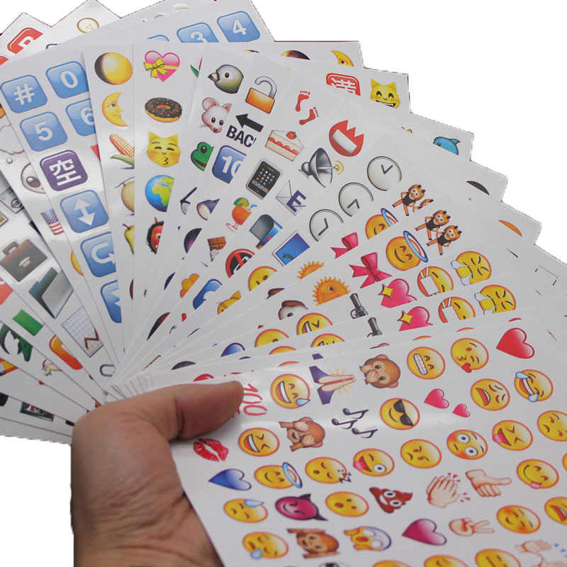 27Sheets 1300-Style Cut Emoji Sticker Notebook Message Vinyl Funny Creative Stationery Sticker For Office School Supplies