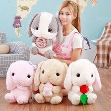 4kinds Cute Long Ears Rabbit With Milk Bottle Rosette Radish And Biscuits Soft Animal Plush Toy Stuff Doll Gift For Children(China)