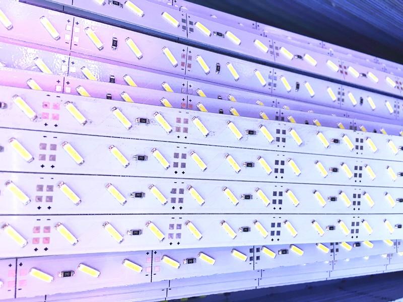 50pcs 50cm Hard Rigid led Bar light 12V 50CM 36 led SMD 7020 Aluminum Alloy Led Strip light For Cabinet