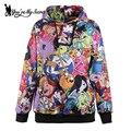 [Você é Meu Segredo] Adventure Time Mulheres Outono Inverno Hoodied Camisola Sportswear Casual Longo-Luva de Impressão Digital Hoodies