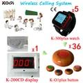 Customer Call Официант Дешевое 433.92 мГц Электронной Цифровой Дисплей Оборудование Беспроводной Подкачки Система С Английским Строки Экрана