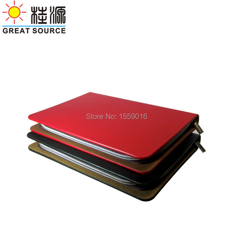 Great Source Fancy leather portfolio leather 6 rings binder bag binder folder for a5 notebook planner