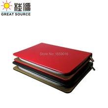Отличный источник фантазии кожаный портфель кожаный 6 колец связующего сумка связующего папку для a5 ноутбук планировщик Бесплатная доставка