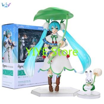 Hatsune Miku Figma #024 Snow Miku Snow Bell ver. PVC Action Figure Collectible Model Dolls Toys AD16 hatsune miku winter plush doll