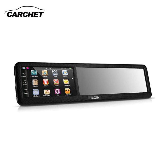 """Carchet 4.3 """"hd coche europa gps tracher espejo retrovisor gps de navegación pantalla capacitiva 8 gb/128 mb bluetooth2.0 av-in mp4 más caliente"""