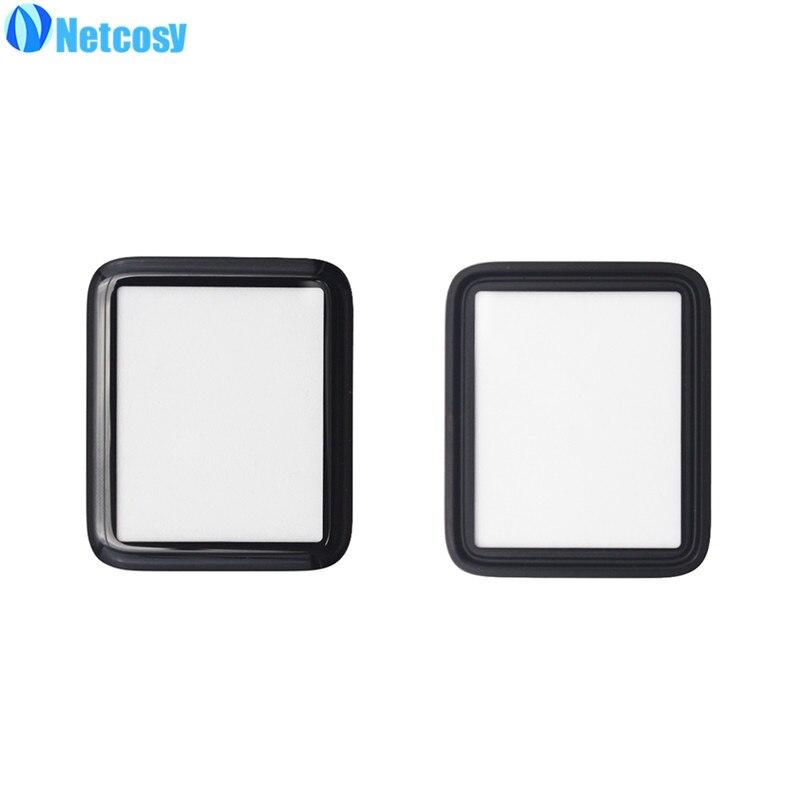Netcosy pantalla frontal lente de cristal exterior reemplazo patrs para Apple Watch serie 1 38mm 42mm Placa de cubierta