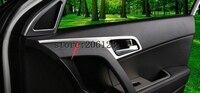FIT FOR 2014 2017 For Hyundai Ix25 Creta Matte Inner Side Door Handle Bowl Cover 4