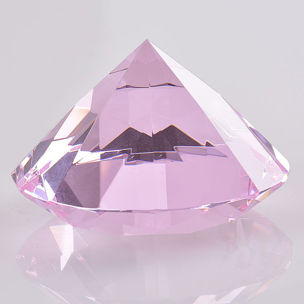 Ship from USA pink k9 80mm crystal diamond paper paperweight ...