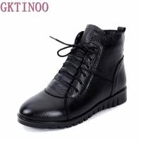 2017 Snow Boots Shoes Women Genuine Leather Large Yard Winter Boots Women Boots Warm Plush Winter
