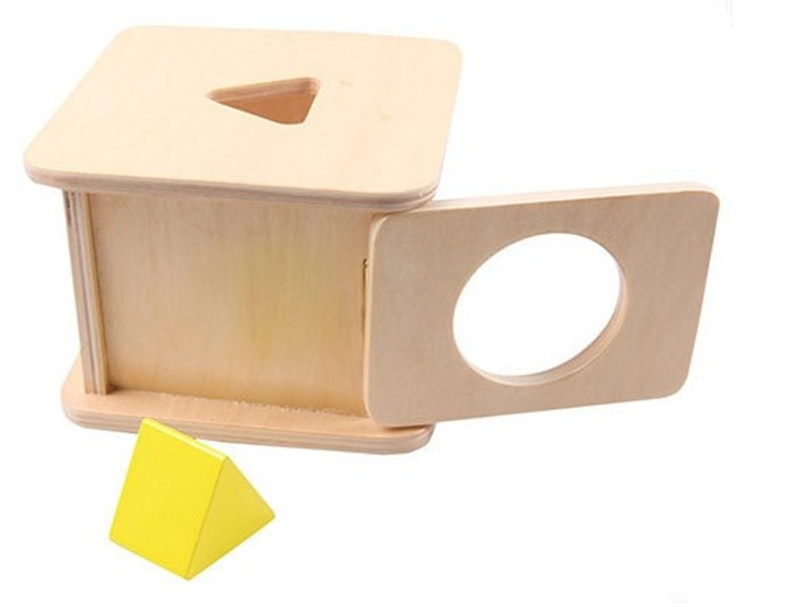 New wooden Baby Toy Montessori Wood Triangular Prism Matching Box Learning Educational Baby Gifts new wooden baby montessori wood cube baby educational toy baby gifts