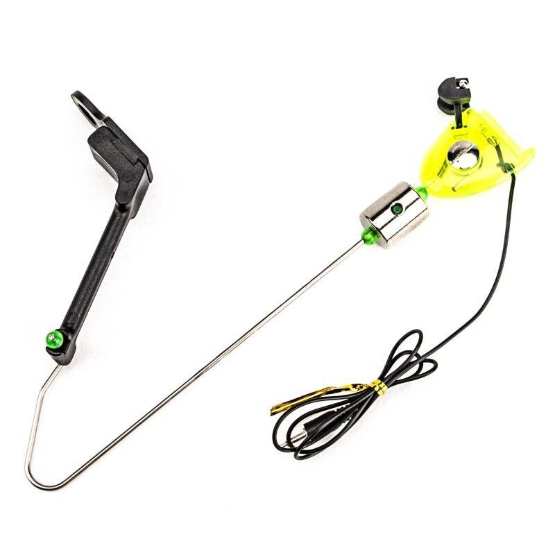 Fishing Alarm Iron Fishing Bite Hanger Swinger LED Illuminated Indicator Fishing Tackle Tools