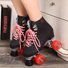 Reniaever patines con llevó ruedas iluminación doble línea macho adulto de carreras de F1 4 ruedas línea patinaje zapatos