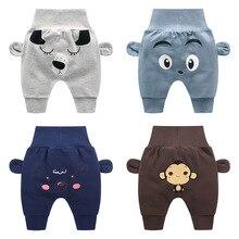 Повседневные хлопковые брюки для маленьких мальчиков и девочек; длинные штаны для новорожденных