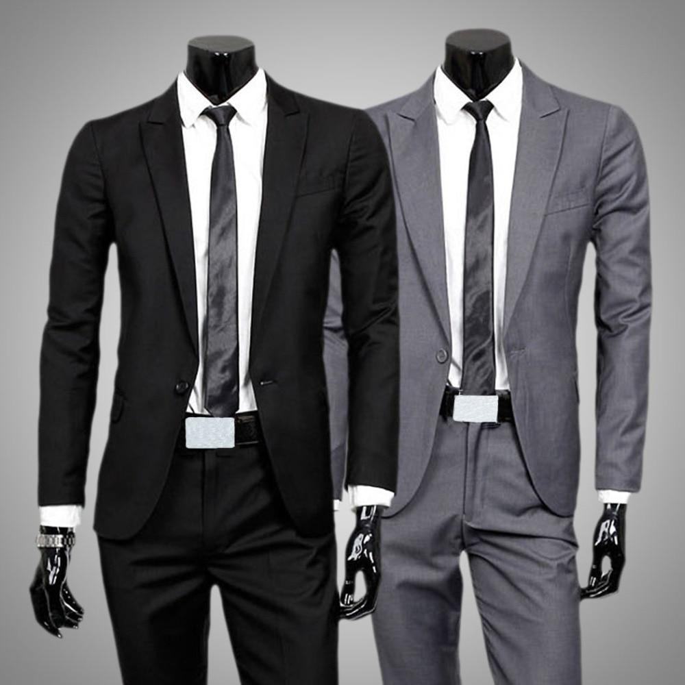 e6eae61ca7fa6 Los Hombres de la boda Trajes de Chaqueta y Pantalones Formales de Moda  Marca Casual Trajes Para Hombres Blazer Terno masculino ME 0002 en Trajes  de La ropa ...