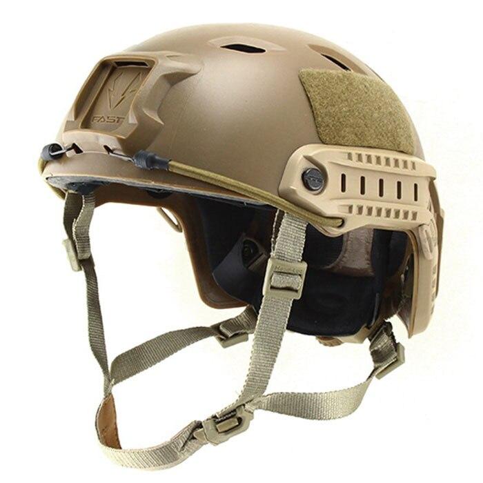 Пейнтбол воздушные маски быстрая база Jump Шлем Тактический Защитный шлем(Темная земля