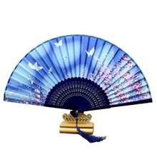 03ebfd641 Plegable de bambú ventilador portátil Cerezo Retro pequeña decoración de la  pared(China)