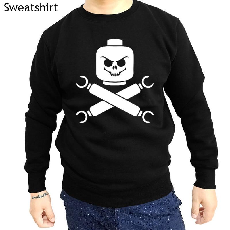 Hoodies & Sweatshirts Devoted New Arrived New Lego Skull And Cross Bones Pirate Shubuzhi Men O-neck Hoodies Brand Fashion Sweatshirt Cotton Cool Tops Hoody