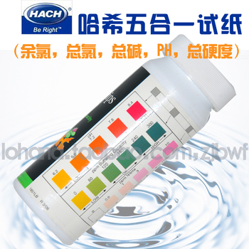 The total alkalinity, total hardness of total chlorine chlorine Hashi pH five in one test for aquaculture test paper фото