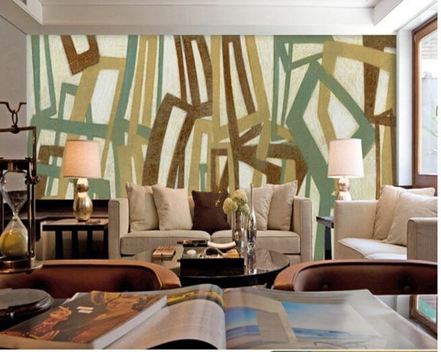 Us 13 25 47 Off Neueste Benutzerdefinierte 3d Wandbild Modernes Olgemalde Bunte Linien Fur Wohnzimmer Tv Schlafzimmer Hintergrund Wandtapete In