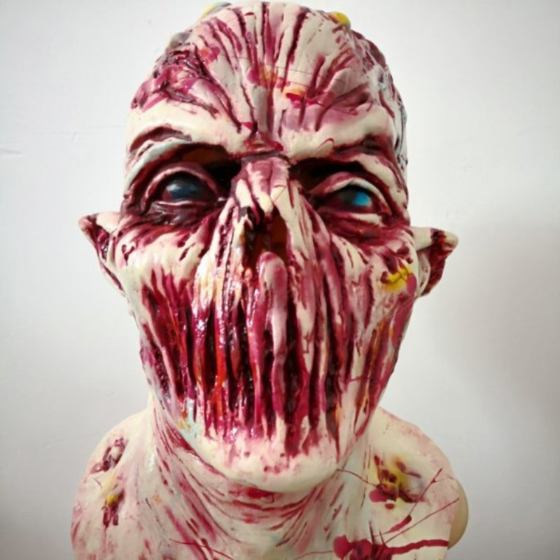 New Halloween Terrifying Adult COS Latex Head Set Zombie Devil Filming Monster Mask Frightening Ghost House Props Gift Decor