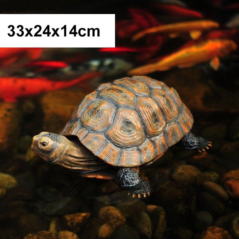 33x24x14 см Искусственный животный орнамент черепаха домашний сад бассейн пруд Смола украшения Статуя Скульптура ремесла Рождественский подарок - Цвет: C