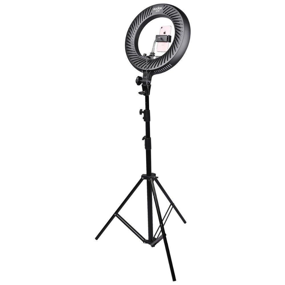 Godox LR180 Selfie Stick Led Ring Light Photographic Studio Ring Fill Lightting Ringlight Photography + AC Adapter + light standGodox LR180 Selfie Stick Led Ring Light Photographic Studio Ring Fill Lightting Ringlight Photography + AC Adapter + light stand
