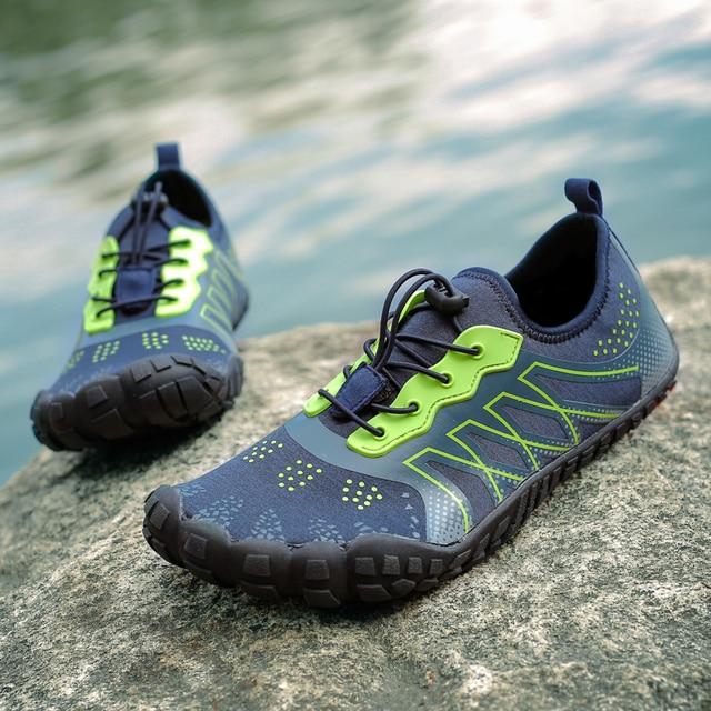 Обувь для влюбленных пар, сезон весна-лето, пляжная обувь для женщин и мужчин, большие размеры, обувь для Босиков, быстросохнущие кроссовки, Размеры 35-47