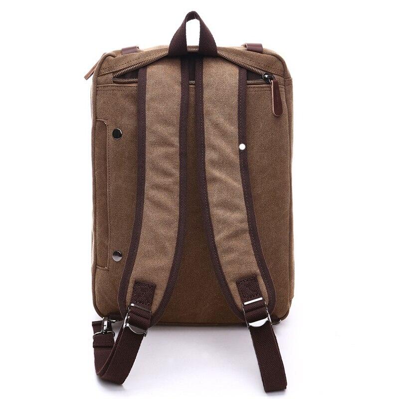 Hommes sacs à main ordinateur portable sacs à bandoulière hommes Messenger sac toile grande capacité Bolsa Masculina Vintage sacs de voyage femmes - 4
