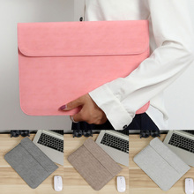 Pu Leather Thin Laptop Sleeve Bag For Dell Asus Lenovo Hp Ace 13 14 14.1 Inch Cover Case For Mac Macbook Air Pro 13.3 Touch Bar pu leather case cover for lenovo ideapad 510s 14 inch laptop bag notebook protective sleeve pen as gift