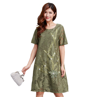 summer dress plus size 2018 big size dresses for women 4xl 5xl 6xl vestido robe femme ete 2018 korean embroidery dress