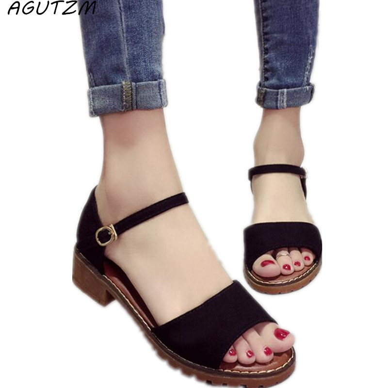 d10145b446e3 AGUTZM New Summer Women Sandals Sweet Flats Comfortable Beach Sandals Flip  Flops Casual Summer Shoes Fashion Footwear For Ladies-in Low Heels from  Shoes on ...