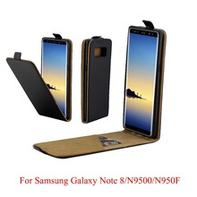 купить For Samsung Galaxy Note 8 N9500F Cover Luxury PU Leather Flip Case For Samsung Galaxy Note8 N9500 Vertical Open Down Up Cover дешево