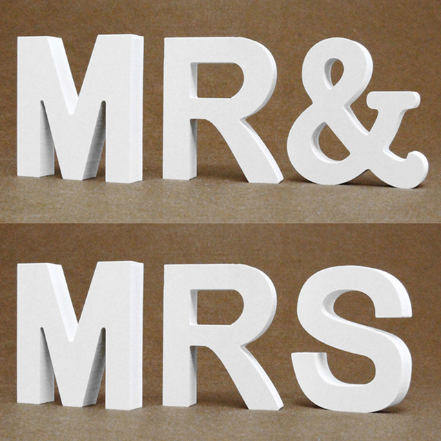 Diy Thick 12MM Wood Wooden Letters numbers White Alphabet Wedding Birthday Party Home Decorations Personalised Name Design 2