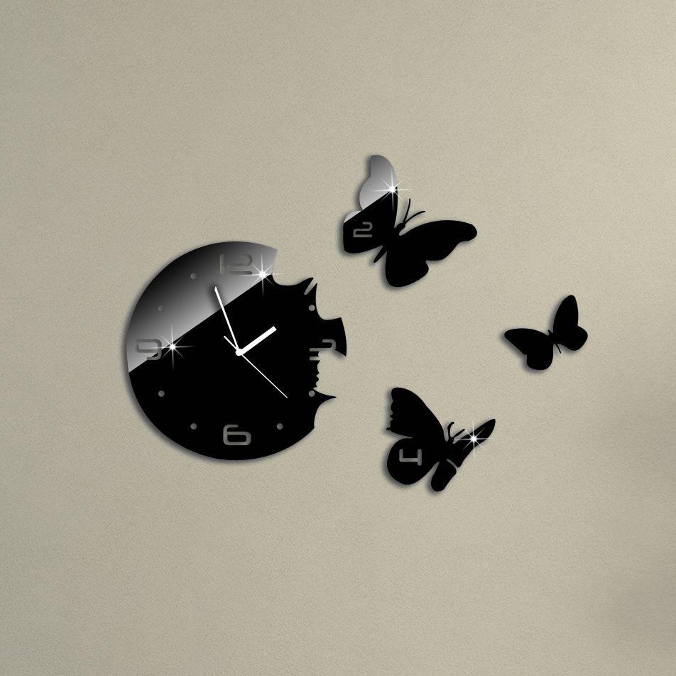 Relojes modernos para salon cool calientes relojes reloj de pared reloj de diy espejo de - Relojes de salon modernos ...