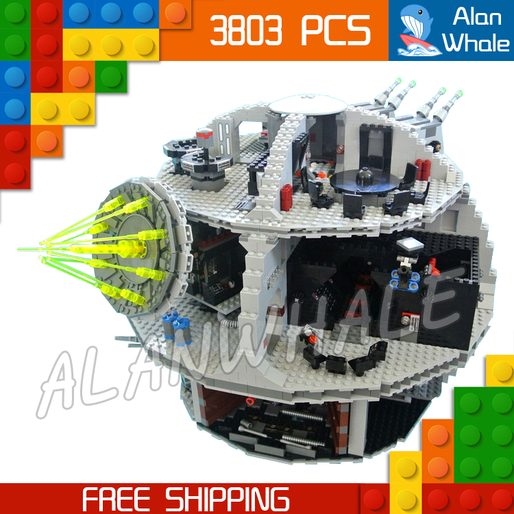 3803pcs Space wars Death Star DIY 05035 Model Building Blocks Sets Gifts Bricks Great Scale Teenagers Toys Compatible with Lego kazi 608pcs pirates armada flagship building blocks brinquedos caribbean warship sets the black pearl compatible with bricks