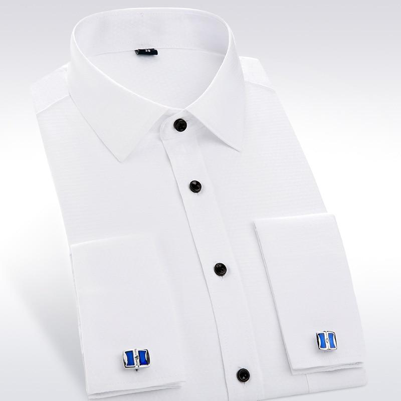 Online Get Cheap Mens White Dress Shirts with Cufflinks ...