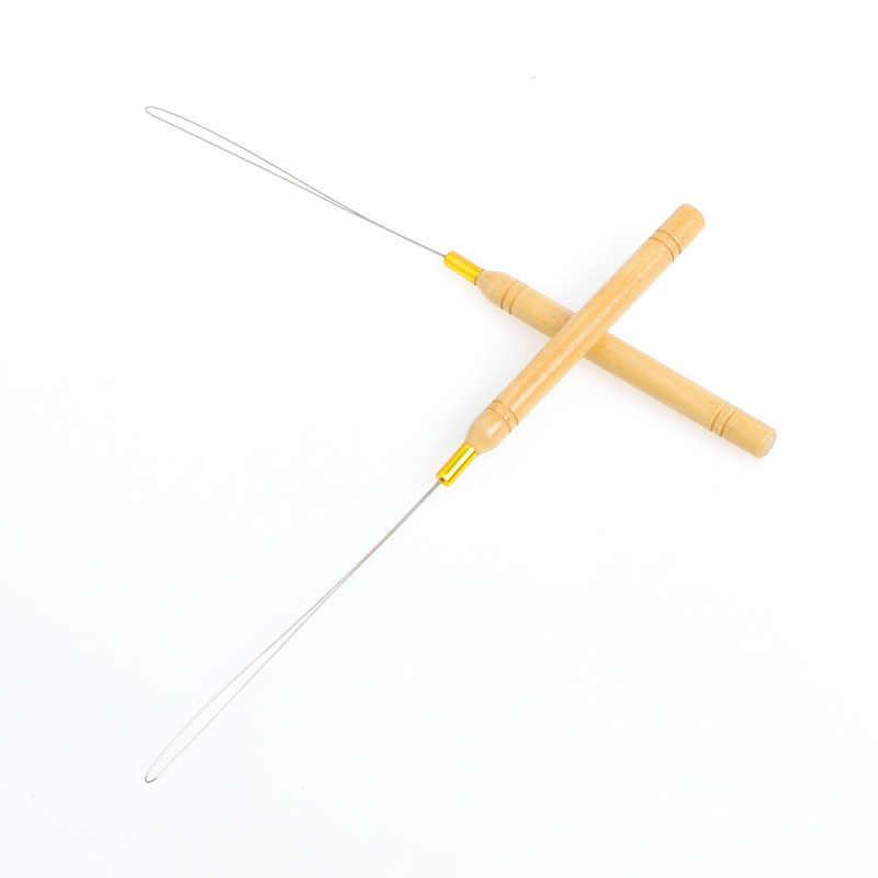 Ring Wood Loop Pulling Needle For Indian Brazilian Loop Hair Extension Plier