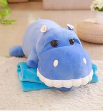 WYZHY down cotton hippo air conditioning blanket plush toy doll sofa decoration to send friends and children gifts  85cm