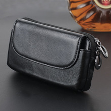 Universal Real Genuine Leather Horizontal Belt Holster Case Wallet Phone Pouch For iPhone 7 Plus 6 6S Plus 5 5S SE Cell Phone