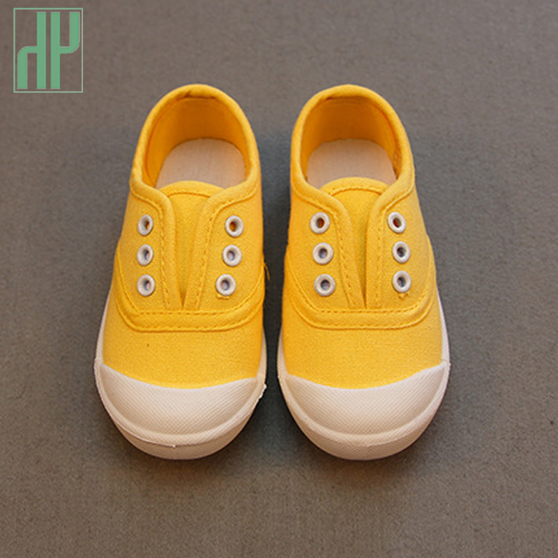 HH Children Shoes canvas sneakers 2017 spring kids fashion girls shoes toddler boy canvas shoes Size 21-36 cheap kids trainers