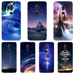 На Алиэкспресс купить стекло для смартфона luxury stary sky pattern case protection cover coque for one plus 6 6t phone cases for oneplus 6t 6 tempered glass back cover