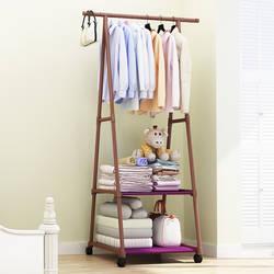 Треугольники вешалка нетканых материалов Сталь трубы простота сборки гостиная двигаться простой вешалка для одежды шкаф Мода мебель для
